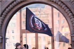 Флаг с гербом «Воинов Жизни»