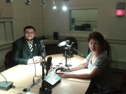 Дмитрий Баранов на радио Латвии