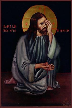 Иисус Христос плачет об абортах