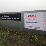 плак 3 - Волосово: Наши плакаты работают на спасение детских жизней напротив городской больницы