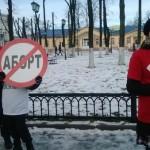 Антиабортная акция на Благовещение в городе Шуя